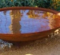 Mobile Preview: Corten Stahl Wasserschale